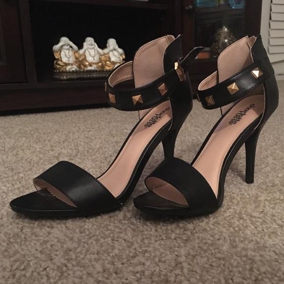21af977ae87 Charlotte Russe gold studded strappy heels SZ 6